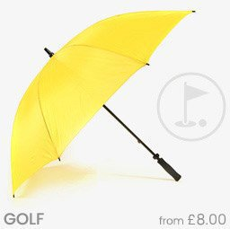 Plain Golf Umbrellas